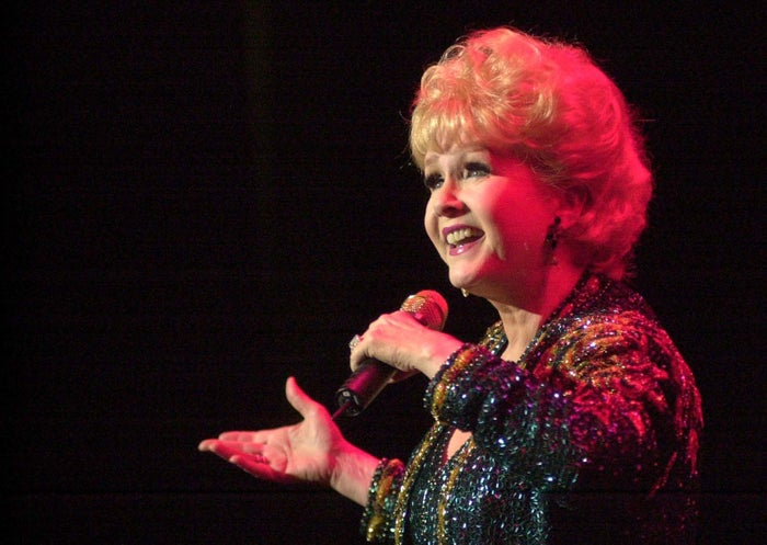 Debbie Reynolds performs at a concert in 2003.