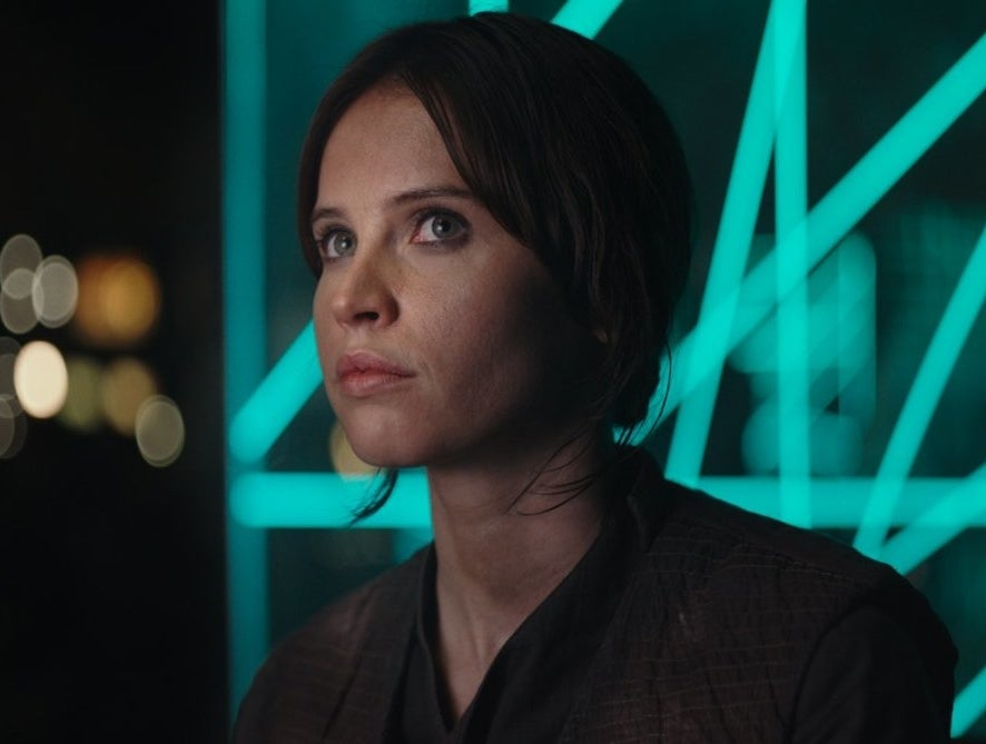 Release date: Dec. 16, 2016Men who shape her fate: Her dad, her adoptive dadHow they mess with her: Jyn (Felicity Jones) has a dad who has been building an incredibly dangerous weapon for the Galactic Empire, which — as we all know — is basically pure evil. Because of his work, he was abducted, Jyn's mom Lyra was murdered, and little Jyn was raised by a bonus father figure, with whom she also has issues! Jyn spends much of her energy and time confronting her complex relationship with each dad: First she gets into a big argument with her stand-in father, who raised her but then abandoned her when she was still a youth; then she tries to reunite with her biological father all the while trying to convince a bunch of people that he's not pure evil. Eventually, she dies — because she's developed principles, but also to finish what her father started.