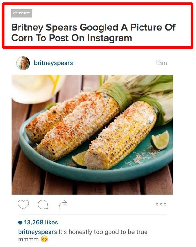 And in her spare time, she Googled corn.
