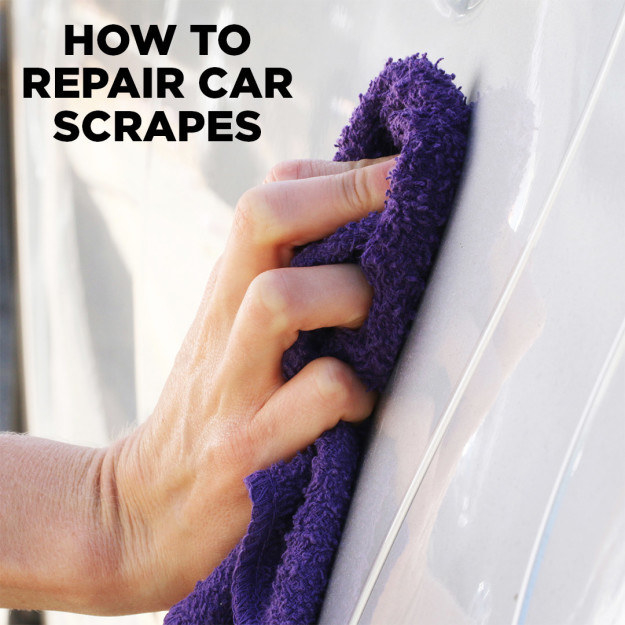 Use non-acetone nail polish remover as a quick fix for some types of scratches.
