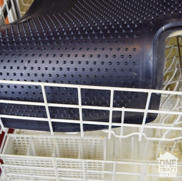 Take those god-awful car mats that catch literally every ounce of dirt and toss them in the dishwasher.