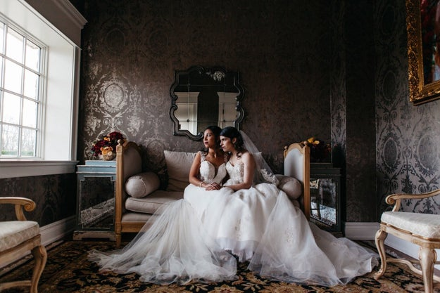 Two wedding dresses are better than one.