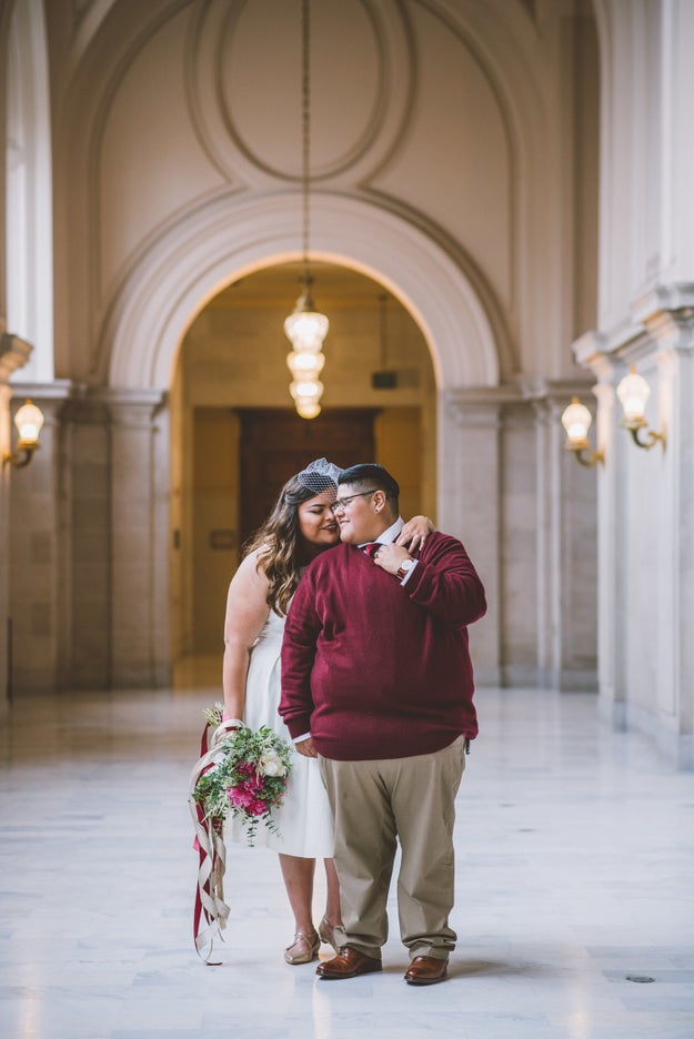 These women. This city hall wedding. Perfection.