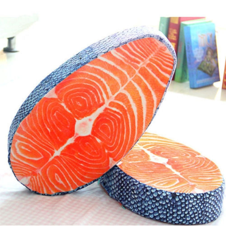 weird salmon sushi coussin fish buzzfeed things pet bed skin irresistibly simulation maison friki dormitorio salmon weirdest poisson savoureux lavable