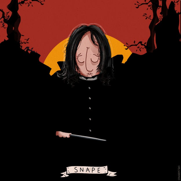 He created this image of Alan Rickman, the actor so good at being a villain that everyone loved him.