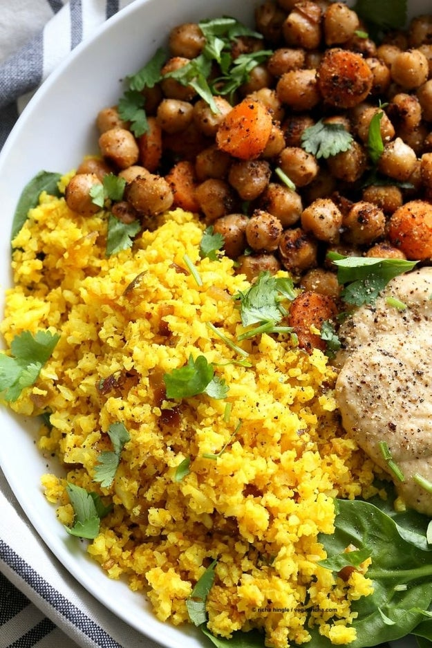 Turmeric Cauliflower Rice Bowl