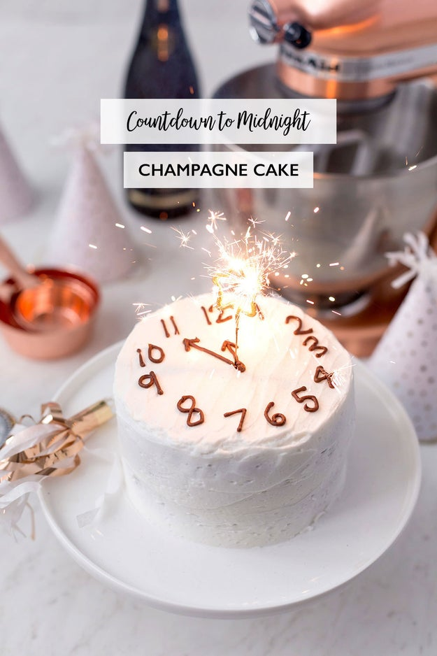 New Year's Champagne Cake