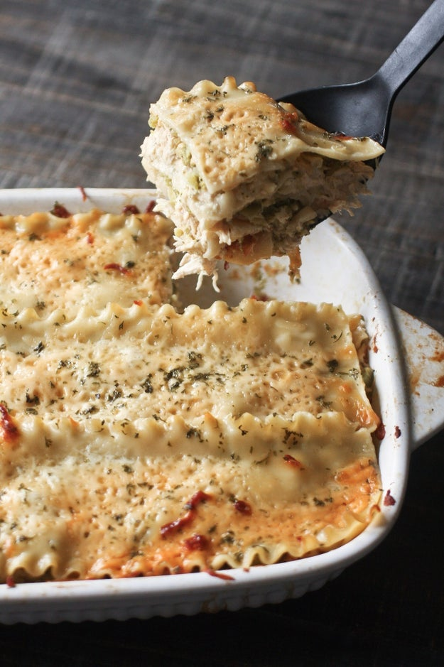 Broccoli Chicken Alfredo Lasagna