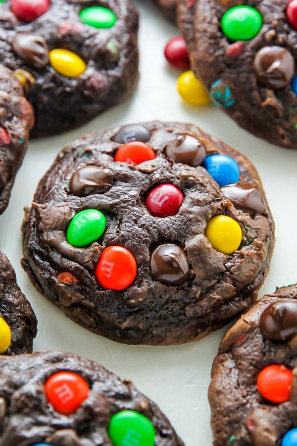 Soft Batch Chocolate M&M's Cookies