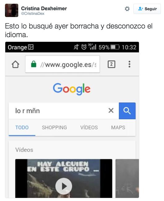 Este claro ejemplo de cómo poner a prueba los límites de Google.