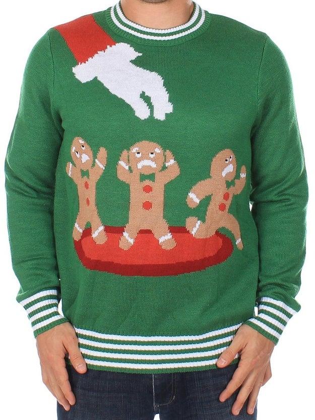 A Christmas sweater that's pretttttty dark, you guys!