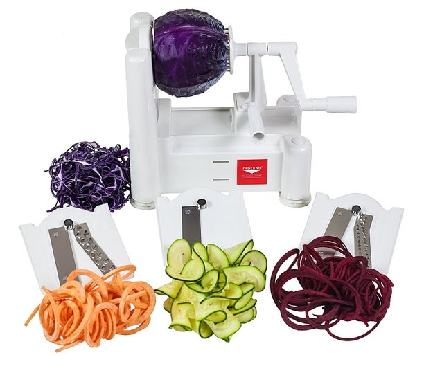 A vegetable spiralizer to make noodles out of almost anything.