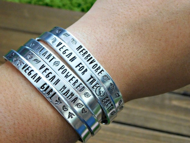 A hypoallergenic bracelet with a message.