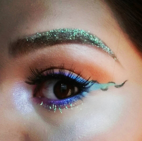 You can pair it with glitter brows and add a color to it: