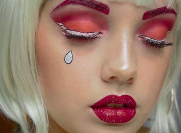 Unicorn eyeliner! Yup, it's time to trade your wings for horns.