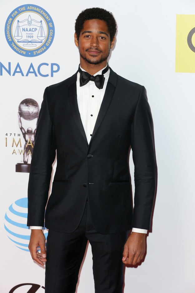 Later, Alfred Enoch wants to show you his wand from Harry Potter.