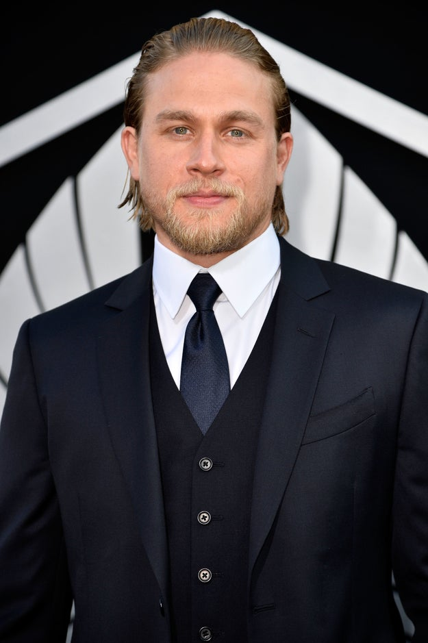 Or what about Charlie Hunnam — party on the top, business on the bottom?