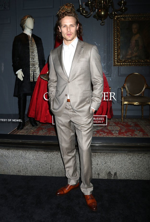 Sam Heughan will cheer you up, day or night.