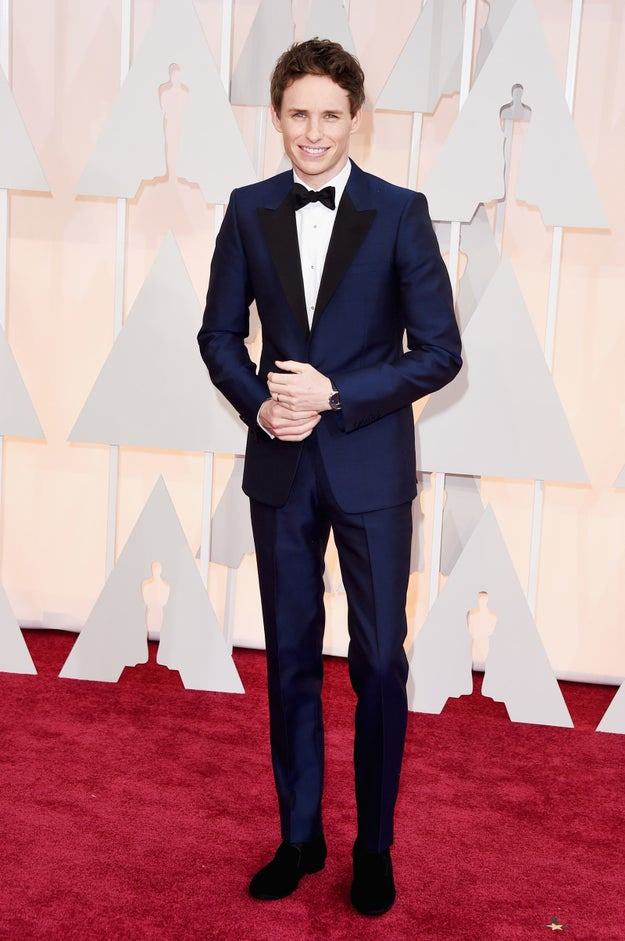 And Eddie Redmayne is just thrilled you're here. Absolutely thrilled.