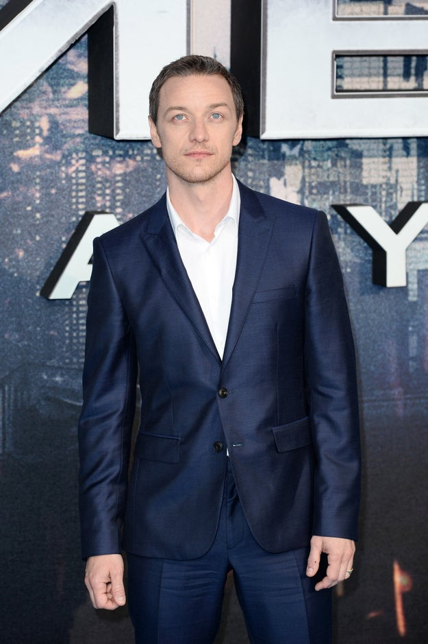 But wait — James McAvoy's eyes — wow.