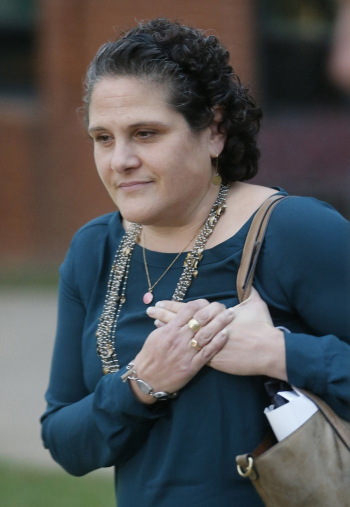 Nicole Eramo leaves court after in Charlottesville on Nov. 1.