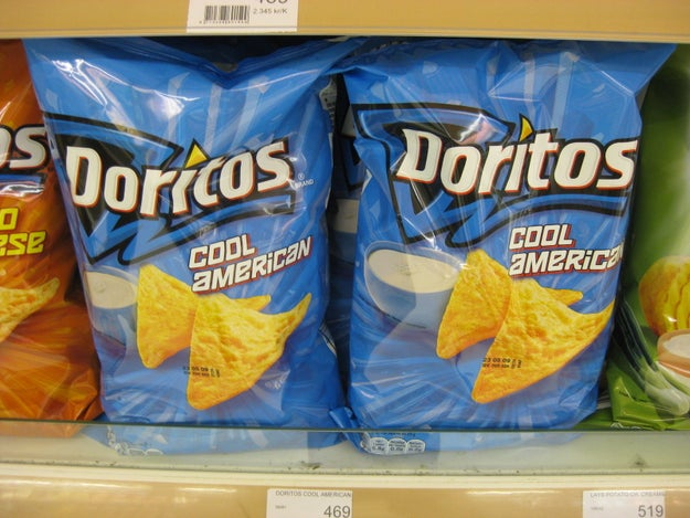 "And some European countries, including Switzerland, have a ""Cool American"" Doritos flavor."