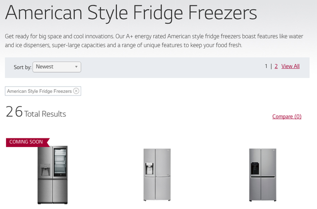 "In Britain, big fridges with side-by-side doors are known as ""American fridges."""