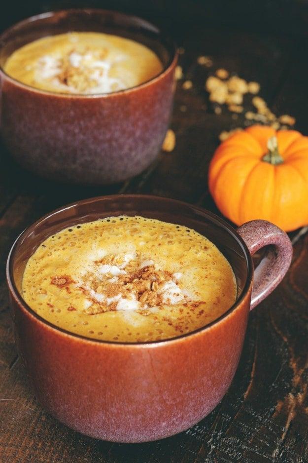 Hot Pumpkin Pie in a Mug