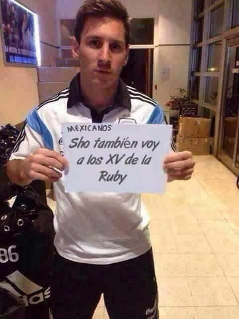 Seguida del mismísimo Messi.