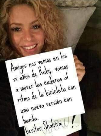 Shakira confirmó su asistencia vía Instagram.