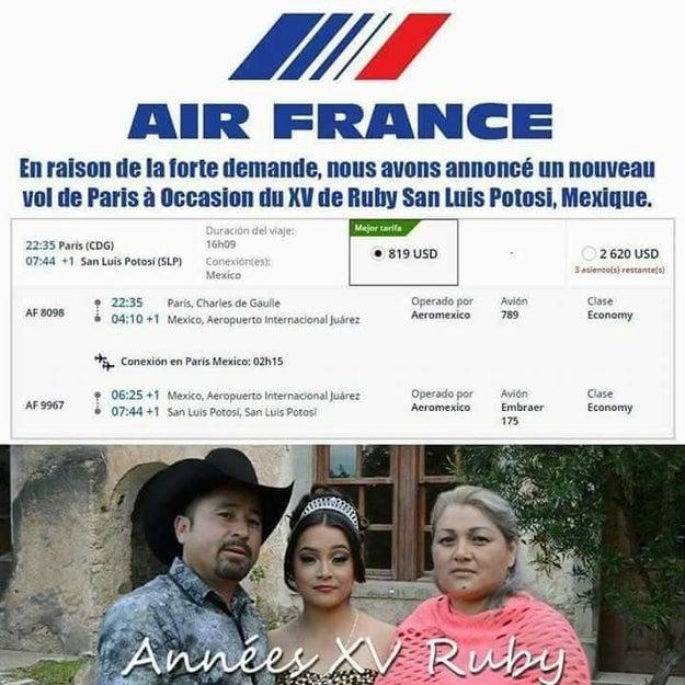 Y alguien hasta se atrevió a hacerla de diseñador con Air France.