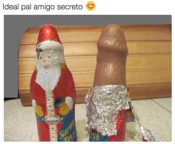 Este chocolate navideño.