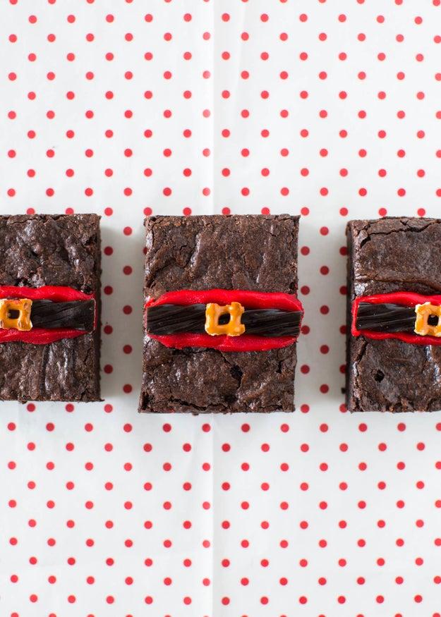 Santa Fudge Brownie Bars