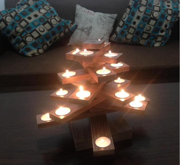 Puntos extra si son velas aromáticas.