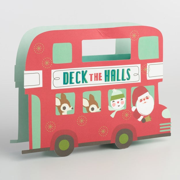 A gift bag perfect for any double decker present.