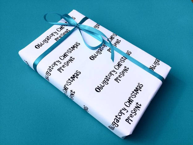 Gift wrap for the straight-talker in the family.