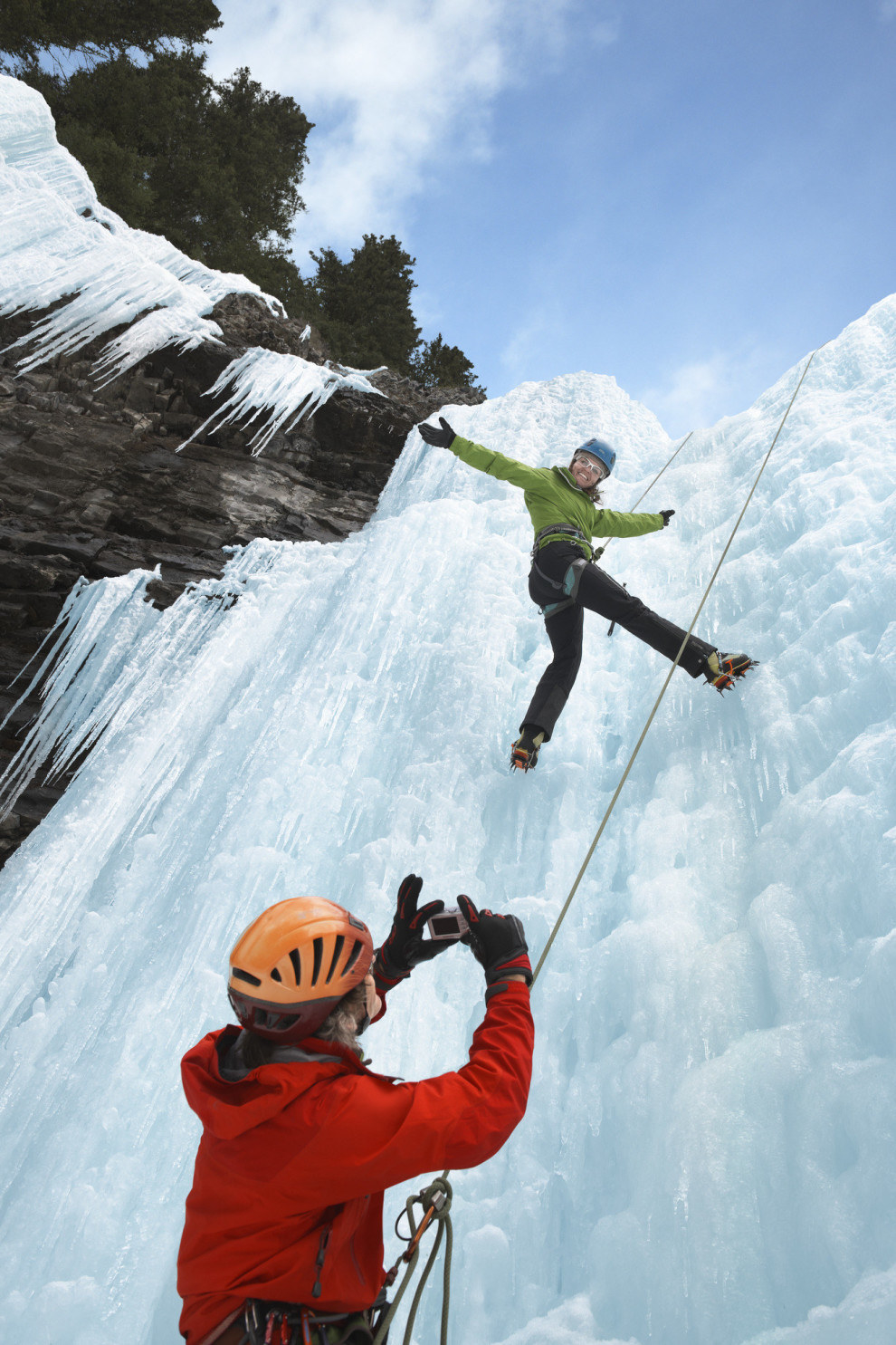 Reach new heights by taking ice climbing lessons in the Canadian Rockies.