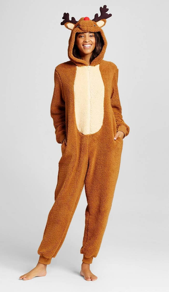 af9a1b9697 A Rudolph onesie that will transform you from an average human to Santa s  favorite reindeer.