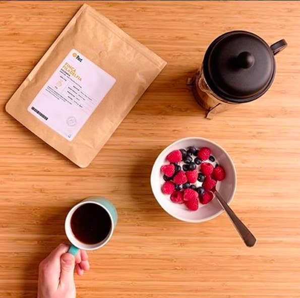 Fuel your mornings with fair-trade coffee. Buy it here.