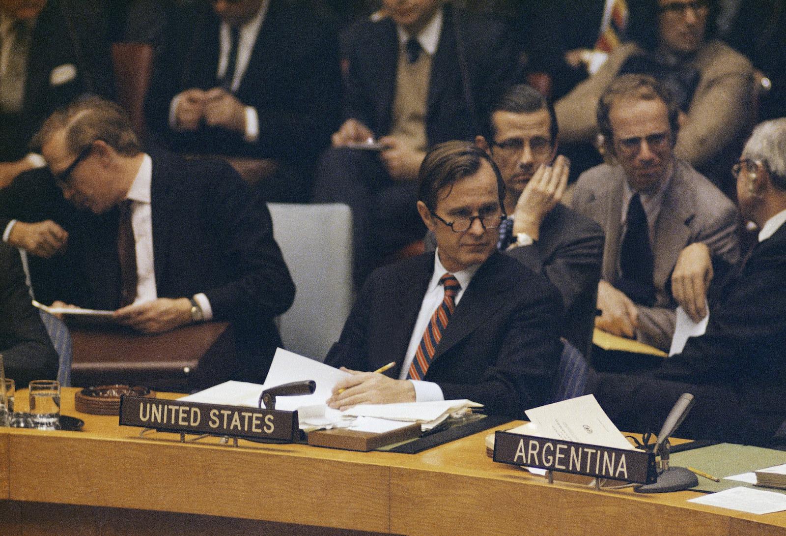 Bush at the UN in 1971.