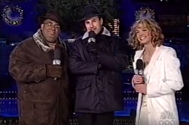 And we need to take a moment to revel in this footage from a truly magical time in history. Here are Today hosts Al Roker and Matt Lauer standing beside Britney Spears, who was also performing and was dating Justin Timberlake at the time.