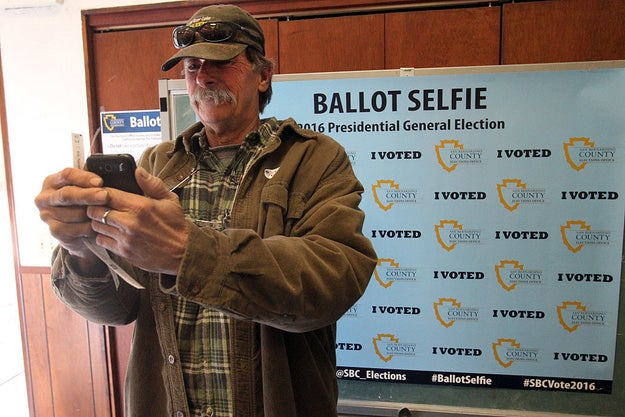 Ballot selfies, which were banned in several states.