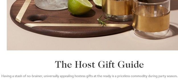 And it's just not Christmas on the internet without one of Goop's insane gift guides.