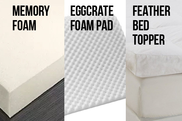But also get the proper padding. Know the difference between a memory foam mattress pad, a feather bed topper, or an eggshell mattress topper.