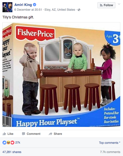Unfortunately, as the image kept spreading online, many people seemed to think it was a real product from Fisher-Price.
