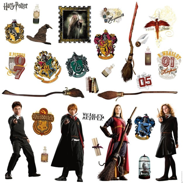 Peel-and-stick wall decals that add a touch of magic to any surface.
