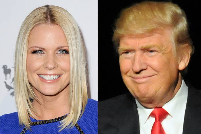 Carrie Keagan and Donald Trump.