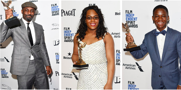 When three of the four top honors at the Independent Spirit Awards went to actors of color.