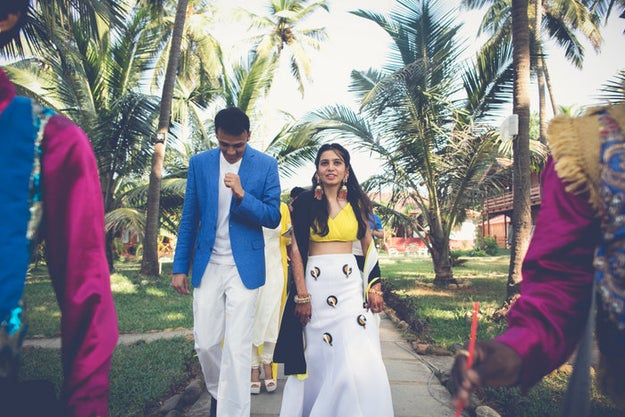 The mehendi was a pool party, which looked just as stunning as the sangeet.