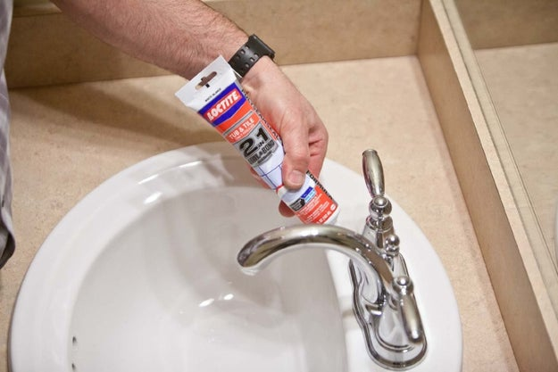 Reseal all those unsightly cracks in your tub and tile with caulking and make your bathroom look new again.